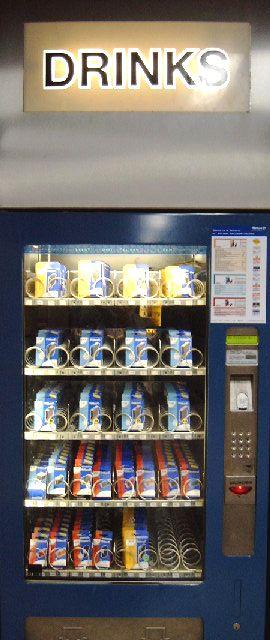 Automat für Tintenpatronen, überschrieben mit DRINKS